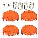 Yesjoy 4 piezas Cubierta de Bobina + 4 piezas Resorte para recortadoras de Cable para Black + Decker