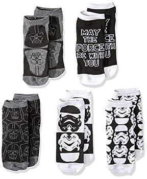 Star Wars Stormtrooper Darth Vader 5 Pack Low Cut Socks
