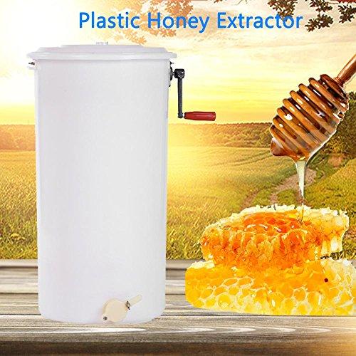 Cocoarm Honigschleuder Kunststoff Manuell Honey Extractor 1-2 Waben Honig Extraktor Bienenzucht Ausrüstung Imker für Anfänger Bienenzüchter Zubehör mit Cover 40 x 72 cm