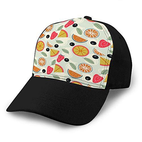 8 Unisex Fashion Hats Baseball Hut Cap Frucht Limonade mit Krügen nahtloses Muster Classic Baseball Cap