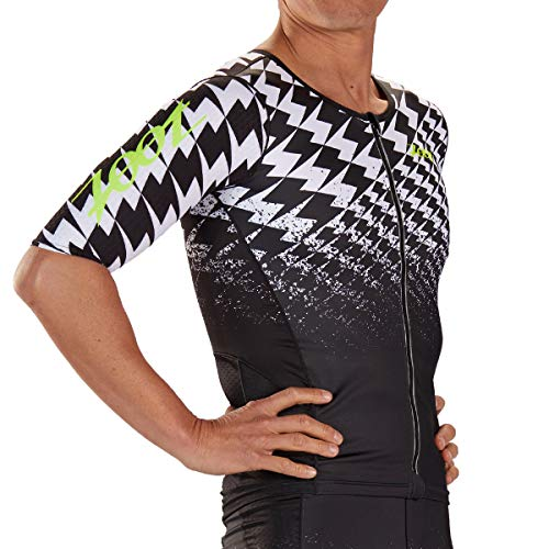 Zoot Herren Triathlon Aero Trikot Design Ultra mit DRAGZERO Textilien für noch mehr Aerodynamik, Atmungsaktivität und Kompression, mit Ärmeln und reflektierenden Details Größe M