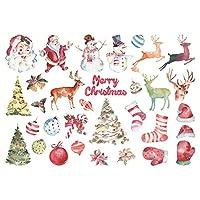 クリスマスワシペーパーステッカークリスマスツリーステッカーギフトベルキャンディーステッカーアルバム日記ステッカージャーナルノートブックデコレーションスクラップブッキング(スタイル2)