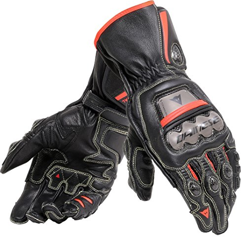Dainese Handschuhe Full Metal 6, schwarz/schwarz/fluo-Rot, Größe XL
