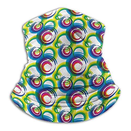 Halswärmer bunt für den Winter Multifunktionale abstrakte kreisförmige Formen