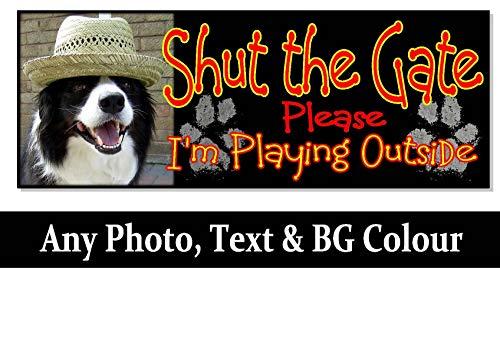 cwb2jcwb2jcwb2j Hond Foto Gepersonaliseerde Naam Teken Plaque Huis Bed Kennel Deur Poort Pad Gift Outdoor Tuin Op maat Houten Plaque 11