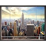 Papel Pintado Fotográfico New York 352 x 250 cm Tipo Fleece no-trenzado Salón Dormitorio Despacho Pasillo Decoración murales decoración de paredes moderna - 100% FABRICADO EN ALEMANIA - 9026011a