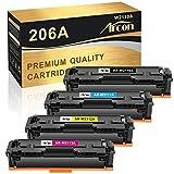 Arcon Compatible Toner Cartridge Replacement for HP 206A W2110A 206X M255dw for HP Color Laserjet Pro M255dw MFP M283fdw M283cdw M282nw Printer W2111A W2112A W2113A Toner Cartridges (4PK,KCYM)