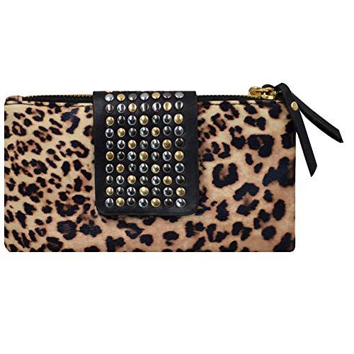 LA HUATE - Cartera de mano para mujer leopardo talla única