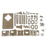 D DOLITY Kit di Assemblaggio Robot Meccanico Servomotori DIY Plastica Componenti Elettronici