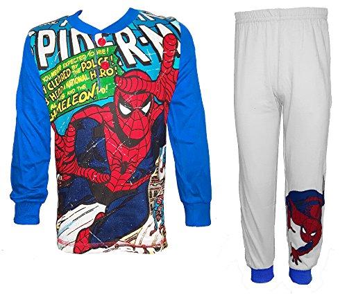 Spiderman Ml PL Pigiama, Blu (Bluette), 104 (Taglia Produttore:4 Anni) Bambino