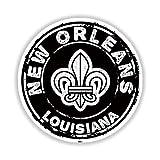 New Orleans Louisiana Mardi Gras Fleur De Lis Sticker 3' Decal Indoor Outdoor Vinyl