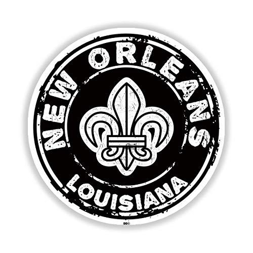 """New Orleans Louisiana Mardi Gras Fleur De Lis Sticker 3"""" Decal Indoor Outdoor Vinyl"""