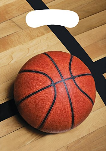Creative Converting 87964 Basketball Plastic Treat Bags, 8ct, 9 x 6.5, Multicolored