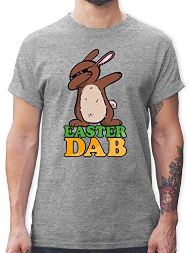 Ostern - Dab Osterhase - M - Grau meliert - L190 - Tshirt Herren und Männer T-Shirts