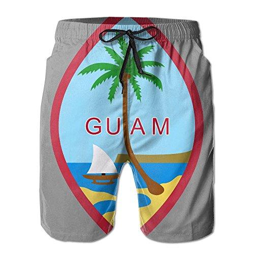 J,CORNER Mens Coat of Arms of Guam Summer Holiday Swim Trunks Beach Shorts Board Shorts Medium