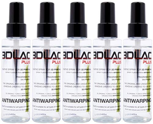 3DLAC plus 3D Printer Adhesive & Anti-Warping Spray 5 Pack