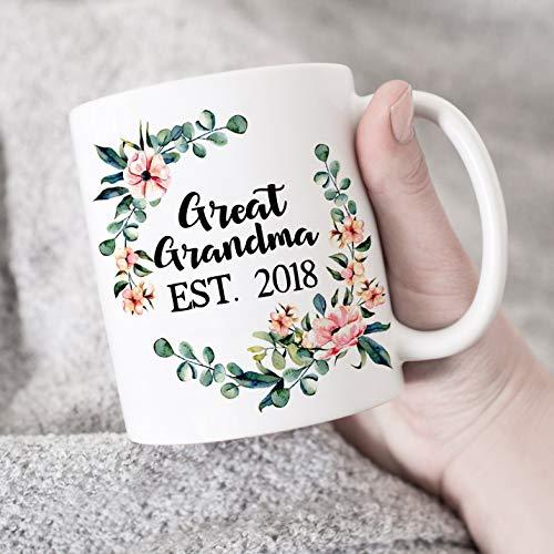 Theemok, koffiemok 11Oz Grote oma Opgericht in 2018 Mok Verjaardagscadeau voor oma Nieuwe Grote Oma Cadeau Grootmoeder Cadeau Moederdag Cadeau voor oma