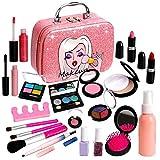 Washable Kids Makeup Girl Toys - Non Toxic Real Kids Makeup Kit for Girls Nature Make Up Set for...