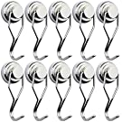 BAVITE Swivel Swing Magnetic Hook New Upgraded, 60LB (10 Pack)Refrigerator Magnetic Hooks ,Strong Neodymium Magnet Hook, Perfect for Refrigerator and Other Magnetic Surfaces,67.5mm(2.66in) in Length