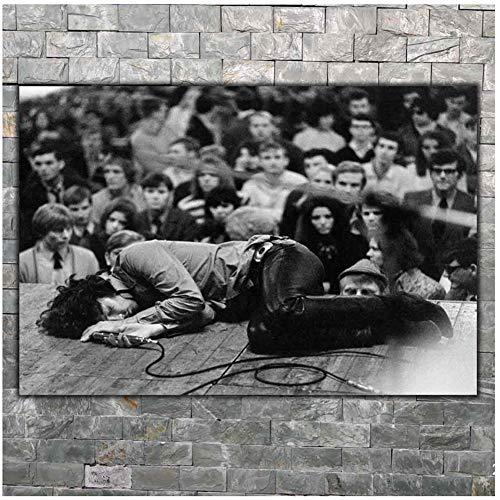 chtshjdtb DIE TÜREN American Rock Jim Morrison Poster Home Wanddekoration Leinwand Wohnzimmerdekoration Druck auf Leinwand -60x90cm Kein Rahmen