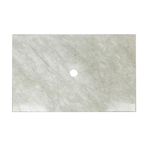 wohnfreuden Sandstein Waschtischplatte Waschbecken Unterbau für Steinwaschbecken 80x52x3cm