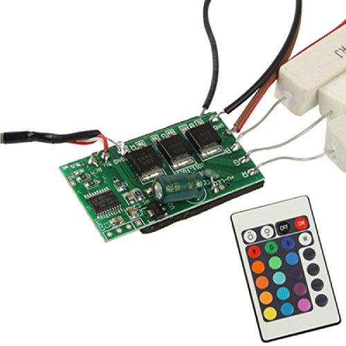ILS - Controlador LED RGB (20 W, con mando a distancia para proyectores, 12 V CC)