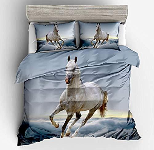 3D Printed Bedding Set for Children horse Bedding Set Nightmare Before Christmas Duvet Cover with Duvet Cover Sets Funky 200x200cm
