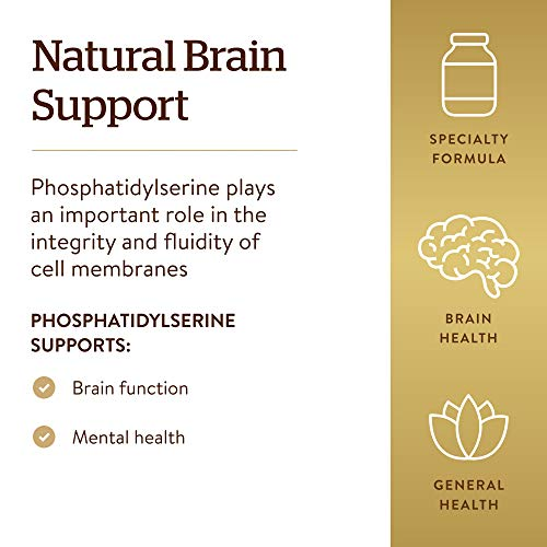 Solgar Phosphatidyl-Serine 200 mg, 60 Softgels - Premium Brain Health Supplement, Supports a Healthy Mind & Cognitive…