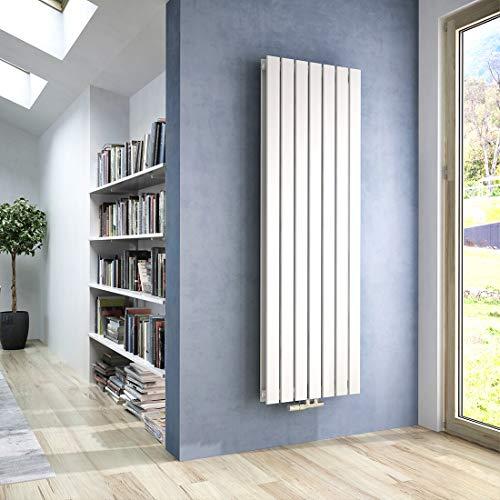 WELMAX Heizkörper Flach 1600 x 540 mm Weiß Design Paneelheizkörper mit Mittelanschluss Doppellagig Vertikal Badheizkörper