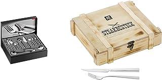 ZWILLING Set de 68 Couverts de Table, Acier Inoxydable 18/10/Lame & Couverts à Steak pour 6 Personnes, 12 Pièces, 6 Coutea...