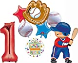 Baseball Player 1st Birthday Party Supplies Balloon Bouquet Decorations