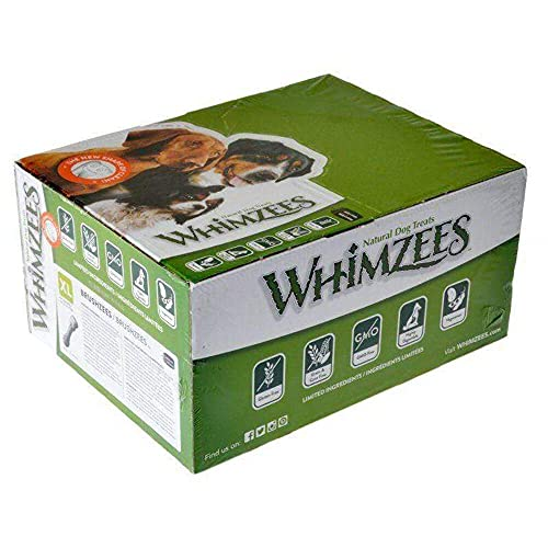 WHIMZEES Brushees Dental Chews, X-Large, 18-Count Box