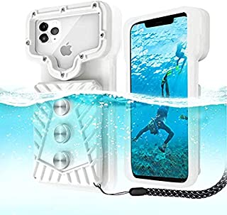 Professional Diving Phone case, SANTOW Waterproof Snorkeling Photo & Video Smart Phones Clear Cover Triple IP68 Protect Dr...