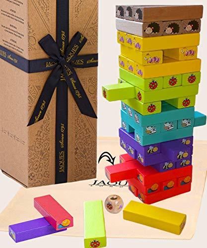 Jaques von London Lass Uns Tier Spielen Spiel Tower – Holz Spielzeug und Spiel holzsteine – Perfekt Montessori Spielzeug ab 2 3 4 5 6 Jahre Seit 1795