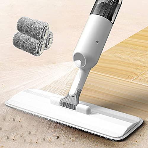 Smile Diary Mano libre Wring Spray Mop para limpieza piso fibra de carbono piso fregonas hogar productos de limpieza baño accesorios conjunto