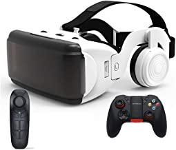 GKJ VR Shinecon VR Headset 3D Glasses,Standalone Virtual Reality Headset with Remote Controller,C