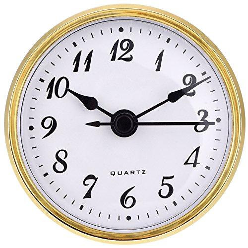 2,8 Zoll/ 70 mm Quarz Uhr Einsatz, Arabische Ziffer, Quarzwerk (Gold)