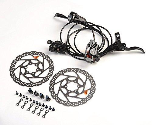 SHIMANO BR-BL-M395 Hydraulic Disco De Freno Juego br-bl-m395+RT56 - delantero + trasero+RT56(Negro)