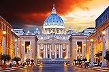 Rompecabezas para adultos, ciudad de Roma, Rompecabezas para adultos Juegos intelectuales Aprendizaje Educación Juguetes-500 piezas (52x38 cm)