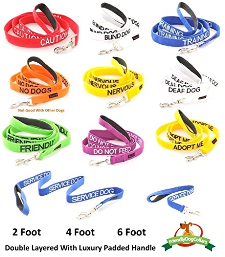 Blind Dog White Color Coded Leash