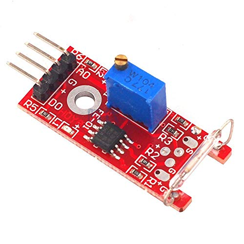 ZHI BEI Sensor DDRZD y detectormodule 3pcs KY-025 4pin Magnetron Secure Dry Reed Switch Magnetron Sensor Switch Module para Sensor de Alto Rendimiento