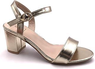 94cbb002157b9 Angkorly - Chaussure Mode Sandale Escarpin Petits Talons Plateforme Ouvert  Femme Simple Basique Classique lanière Talon
