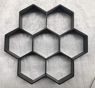 DIY Path Maker Lattice Mold Hexagon Paving Molds Manually Driveway Paving Cement Brick Stone Road Concrete Molds for Garden