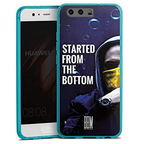 DeinDesign Silikon Hülle transparent hellblau Case Schutzhülle für Huawei P10 Spongebozz Started from The Bottom Merchandise