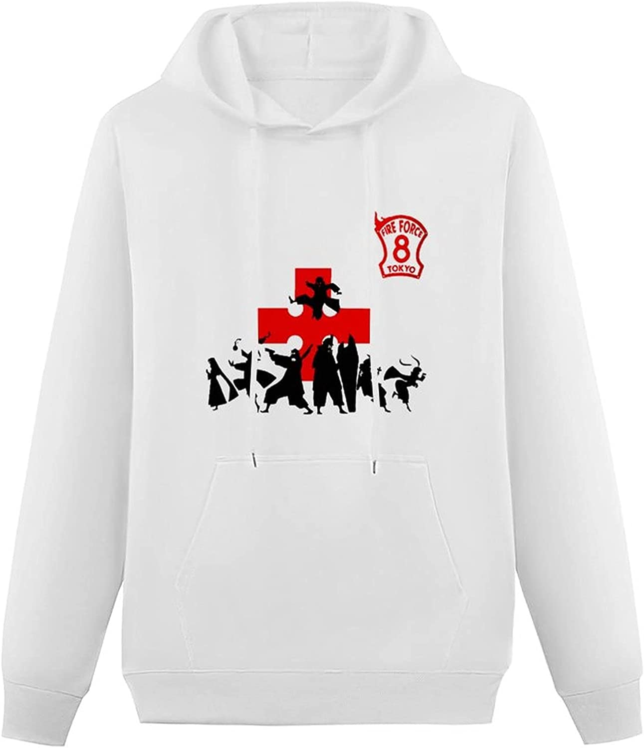 Fire Force Teen Hooded Sweatshirt,Simplicity Pullover Hoodie Sweater for Boys Girls