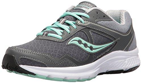Saucony Women's Cohesion 10 Running Shoe, Grey/Mint, 11 M US