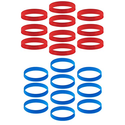 chiwanji Paquet de 20 Bracelets en Caoutchouc, Bracelets en Silicone pour Adultes, 2 Bracelets Colorés pour Fêtes, événements et Sports, Meilleurs Bracelets en