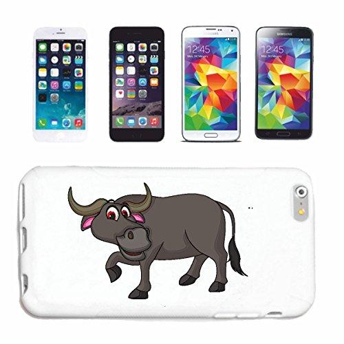 Bandenmarkt telefoonhoes compatibel met iPhone 7+ Plus vrolijke stier buffels RAM waterbuffels Bison indianen buffel hardcase beschermhoes mobiele telefoon cover Smart Cover