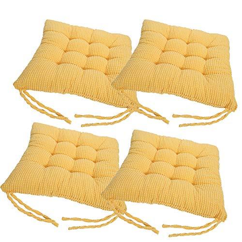 Pack de 4 Cojines amarillos para silla