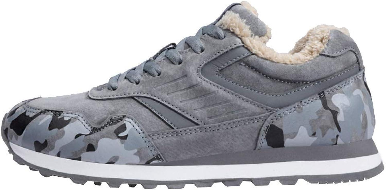 MIS LI Winter Plus Velvet Sports skor Män's Casual skor skor skor Lambskin Värme Running skor No -Slip Comfortable Cotton skor  bekväm